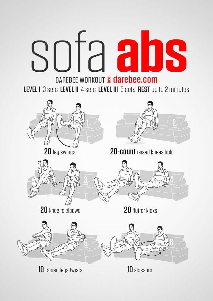 Description Abdominales En Sofa Abs Workout