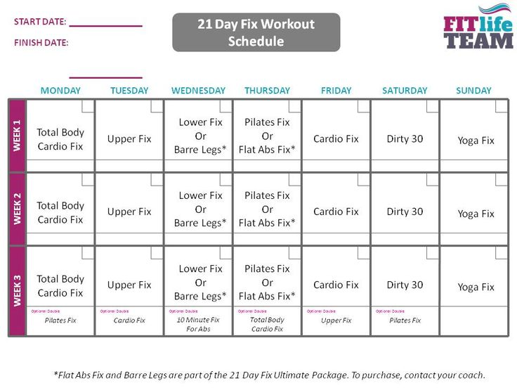 image about 21 Day Fix Workout Schedule Printable identify Health Motivation : 21 Working day Mend work out agenda Conditioning