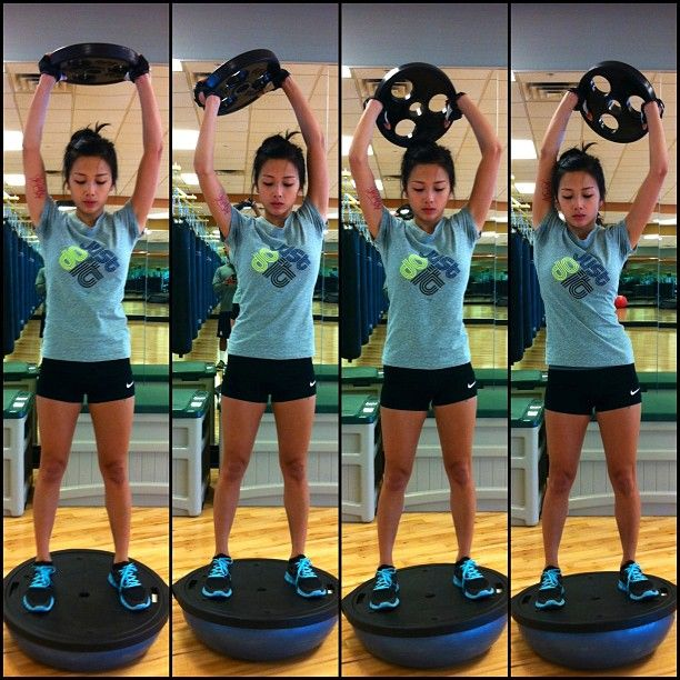 Bosu Ball Exercises For Athletes: Fitness Inspiration : Standing Plate Rotation
