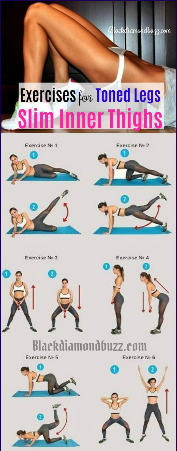 Workout Plans : Best exercise for slim inner thighs and toned legs
