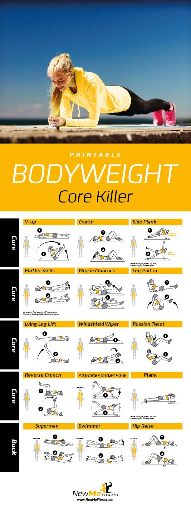 graphic about Trx Workout Plan Printable titled Exercise Strategies : Printable Main Security Ball Exercise session Poster