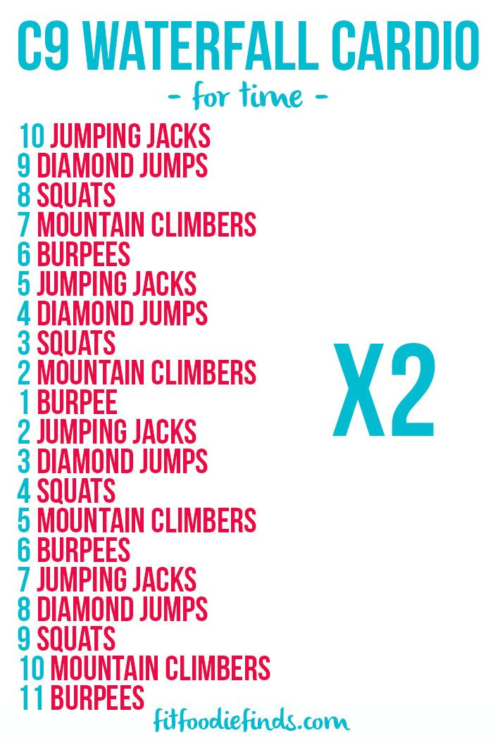 Description Waterfall Cardio Workout