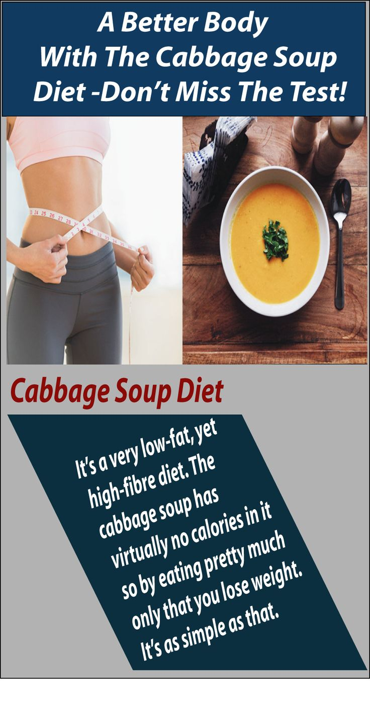 Lose weight eating cabbage soup