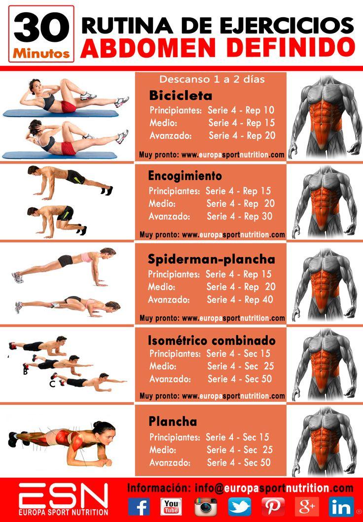 ejercicios gym para definir