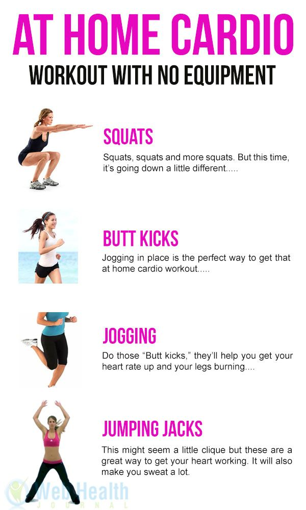 Fitness Motivation : At Home #Cardio Workout with No Equipment ...