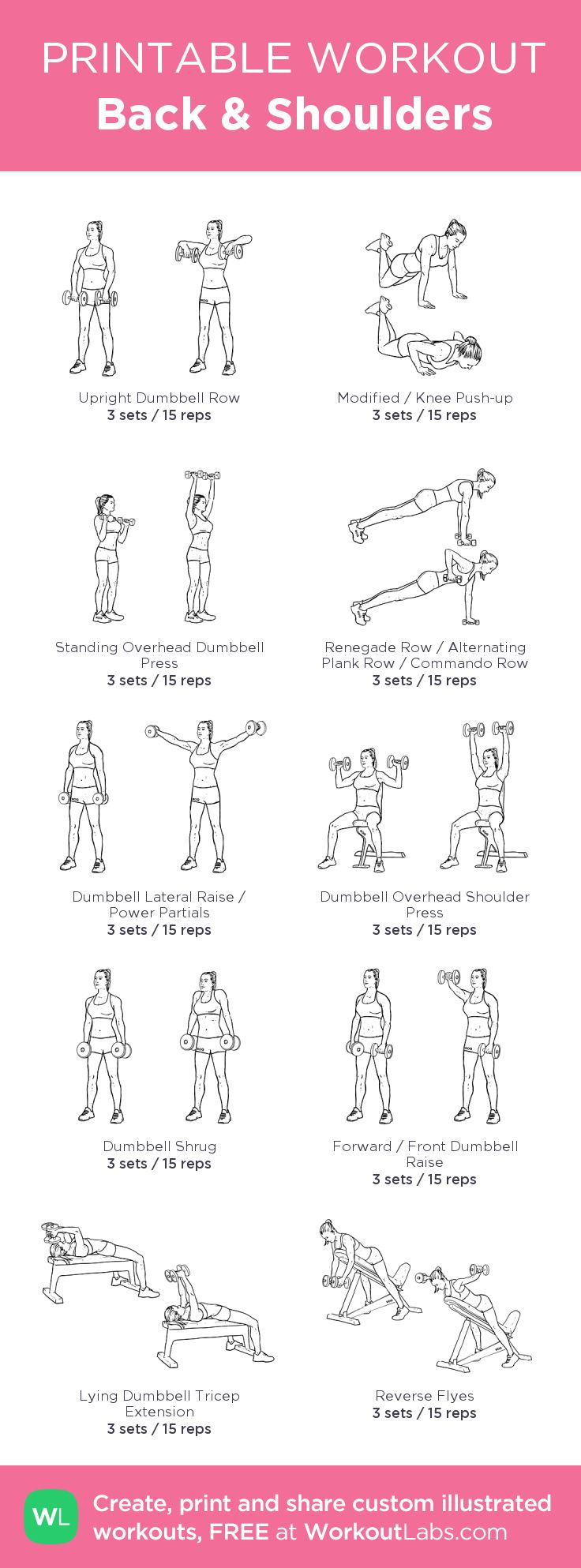 Fitness Motivation : Back & Shoulders: my visual workout created at ...
