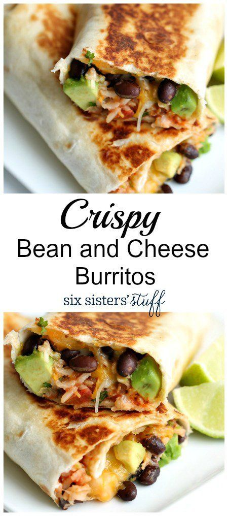 Healthy recipes crispy bean and cheese burritos from six sisters description forumfinder Image collections