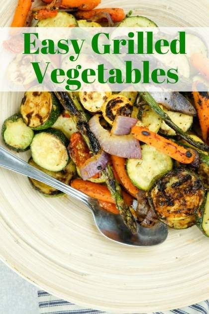 Healthy Recipes : Easy Grilled Vegetables with zucchini ...