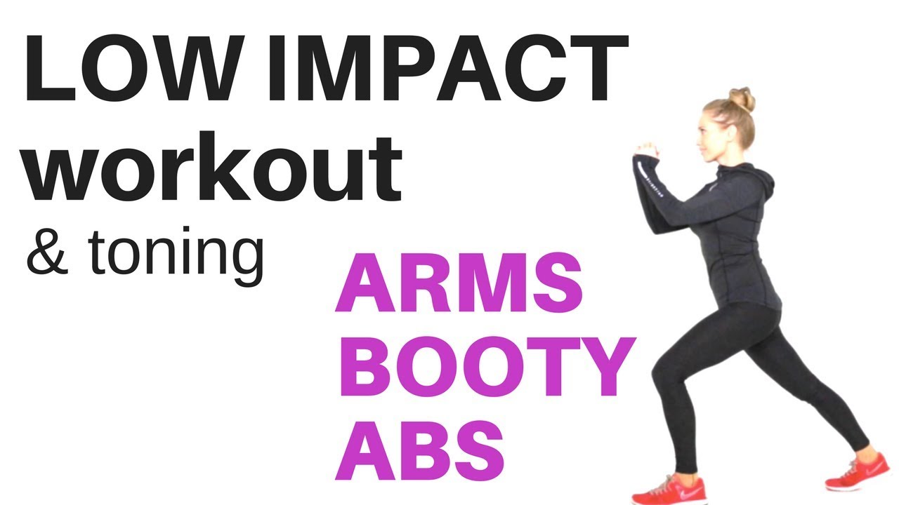 workout tips video low impact exercise home workout tone your arms lift your booty and. Black Bedroom Furniture Sets. Home Design Ideas