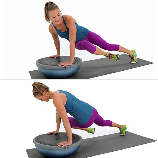 Bosu Ball Exercises For Athletes: Fitness Inspiration : Core Work: Twisted BOSU Plank