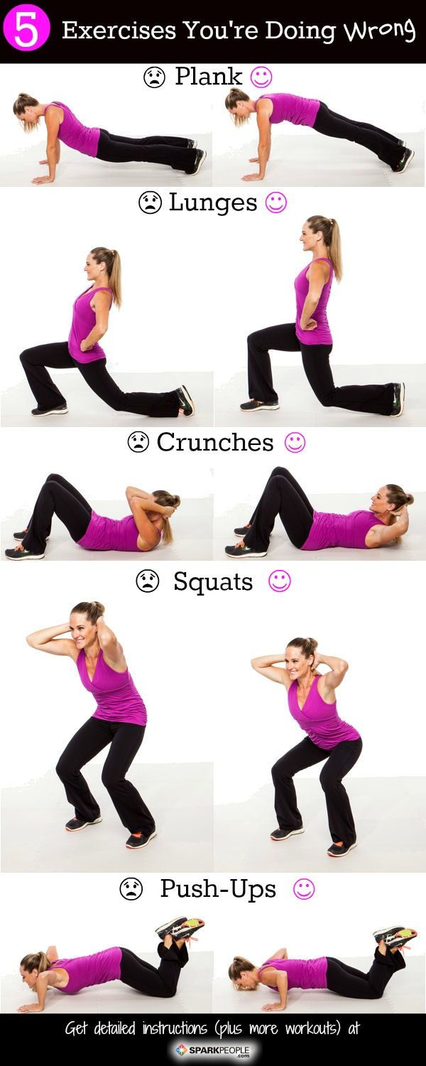 Fitness Inspiration Quick Form Check Are You Doing Any Of These Exercises Wrong Fitness Magazine Magazine Numero 1 Fitness Mode De Vie Sante Bien Etre Workouts